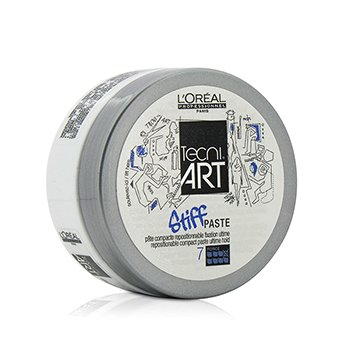L'Oreal Professionnel Tecni.Art Stiff Paste Repositionable Compact Paste (Ultime Hold - Force 7)  75ml/2.5oz