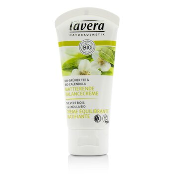 Lavera Organic Green Tea & Calendula Mattifying Balancing Cream - For Combination Skin  50ml/1.7oz