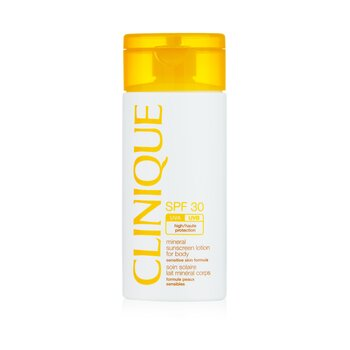 Clinique Mineral Sunscreen Lotion for Body SPF 30 - Formulasi Kulit Sensitif - Losion Tabir Surya untuk Badan  125ml/4oz