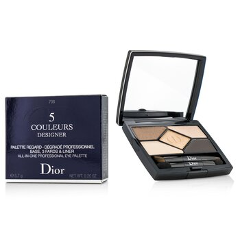 Christian Dior 5 Color Designer All In One Peşəkar Göz Kölgəsi Palitrası - No. 708 Amber Design  5.7g/0.2oz