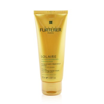 Rene Furterer Solaire Intense Nourishing Repair Mask with Jojoba Wax (For Damaged Hair)  100ml/3.38oz