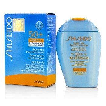 Shiseido Expert Sun Protection Lotion WetForce For Sensitive Skin & Children SPF 50+ UVA - Losion Matahari Untuk Kulit Sensitif & Anak-anak  100ml/3.3oz