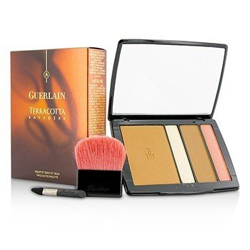 Guerlain Terracotta Bayadere Face & Eyes Palette (2x Bronzing Face Powder, 1x Eyeshadow & Highlighter, 1x Eyeshadow & Blush, 2x Applicator)