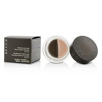 Becca Shadow And Light Brow Contour Mousse (1x Brow Mousse, 1x Highlighter) - Mocha  2x1.5g/0.053oz