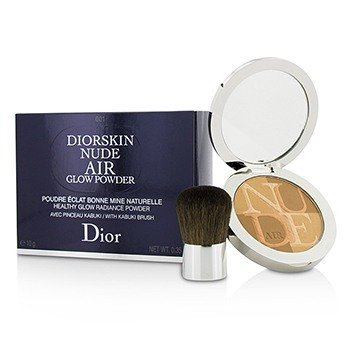 คริสเตียน ดิออร์ Diorskin Nude Air Healthy Glow Radiance Powder (With Kabuki Brush) - # 001 Fresh Tan  10g/0.35oz