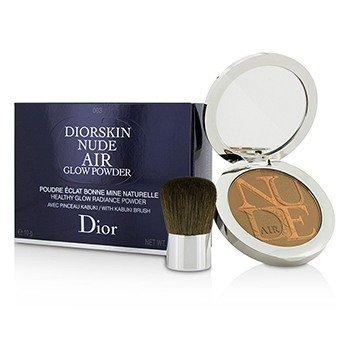 Christian Dior Diorskin Nude Air Polvo Resplando Brillo Saludable (Con Brocha Kabuki) - # 003 Warm Tan  10g/0.35oz