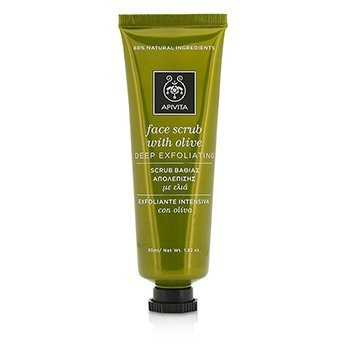 Apivita Face Scrub With Olive - Deep Exfoliating  50ml/1.82oz