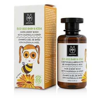 Apivita Eco-Bio Baby & Kids Hair & Body Wash With Calendula & Honey  200ml/6.8oz