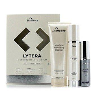 Skin Medica Lytera Skin Brightening System W/ Retinol Complex 1.0: AHA/BHA Cleanser  + Brightening Complex + Retinol Complex 1.0  3pcs