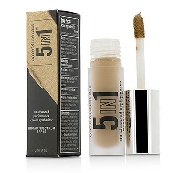 ベアミネラル BareMinerals 5 In 1 BB Advanced Performance Cream Eyeshadow Primer SPF 15 - Rich Camel  3ml/0.1oz