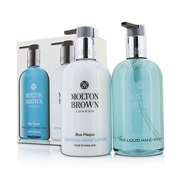 Molton Brown Zestaw Blue Maquis Hand Care Set: Fine Liquid Hand Wash 300ml/10oz + Soothing Hand Lotion 300ml/10oz  2pcs