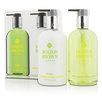 Molton Brown Puritas Hand Care Set: Fine Liquid Hand Wash 300ml/10oz + Soothing Hand Lotion 300ml/10oz  2pcs