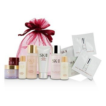 SK-II Travel Set: Cleanser 20g + Clear Lotion 30ml + Essence 30ml + Essence 10ml + Serum 10ml + Cream 15g + Eye Cream 2.5g  7pcs