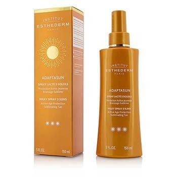 Esthederm Adaptasun Milky Spray 3 Suns Active Age Protection Sublimating Tan - Strong Sun - สำหรับผิวกาย  150ml/5oz