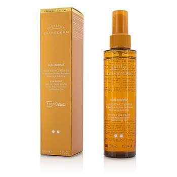 Esthederm Sun Bronz Dry Oil Care 2 Suns Active Age Protection Sublimating Tan - Moderate Sun - For Body & Hair  150ml/5oz