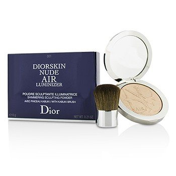 Christian Dior Diorskin Nude Air Luminizer Shimmering Sculpting Powder (med kabukibørste) - #001  6g/0.21oz