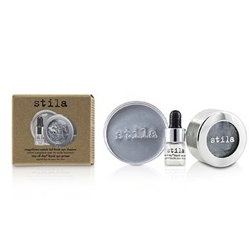 Stila Magnificent Metals Foil Finish Eye Shadow With Mini Stay All Day Liquid Eye Primer - Titanium  2pcs