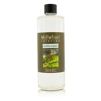 Millefiori Selected Fragrance Diffuser Refill - Muschio E Spezie  500ml/16.9oz