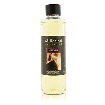 Millefiori Selected Fragrance Diffuser Refill - Amber Delice  250ml/8.45oz