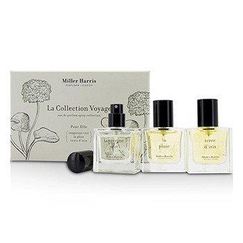 Miller Harris Colección La Collection Voyage Pour Elle Eau De Parfum Spray: La Pluie + Tangerine Vert + Terre D'Iris  3x14ml/0.47oz