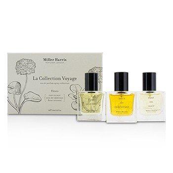 Miller Harris Colección La Collection Voyage Fleurs Eau De Parfum Spray: Fleur Oriental + Noix De Tubereuse + Rose En Noir  3x14ml/0.47oz