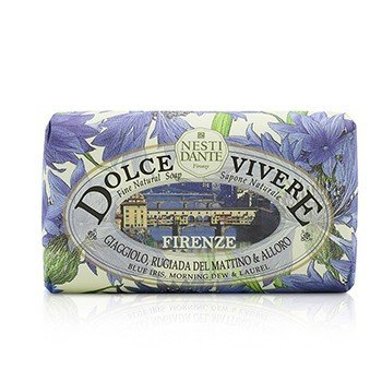 Nesti Dante Dolce Vivere Fine Natural Soap - Firenze - Blue Iris, Morning Dew & Laurel  250g/8.8oz
