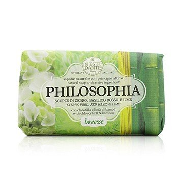 Nesti Dante Philosophia Natural Soap - Breeze - Citrus Peel, Red Basil & Lime With Chlorophyll & Bamboo  250g/8.8oz