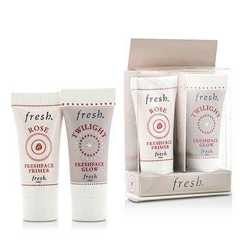 フレッシュ Prime & Glow Set Duo Pack : 1x Mini Rose Freshface Primer, 1x Mini Twilight Freshface Glow  2 Sets