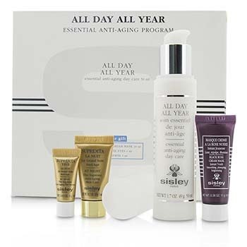 Sisley Anti-Aging Program: All Day All Year 50ml + Black Rose Cream Mask 10ml + Supremya Night Cream 5ml + Supremya Eye Serum 1ml  4pcs