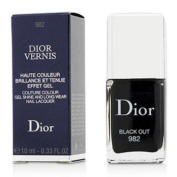 Christian Dior Dior Vernis Couture Colour Laca de Uñas Brillante Como Gel & de Larga Duración - # 982 Black Out  10ml/0.33oz