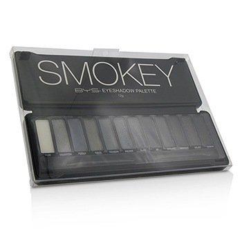 BYS Paleta de Sombras de Ojos (12x Sombras de Ojos, 2x Aplicadores) - Smokey  12g/0.42oz