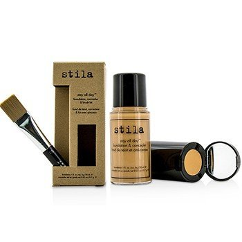 Stila Stay All Day Foundation, Concealer & Brush Kit - # 9 Medium (Box Slightly Damaged)  -