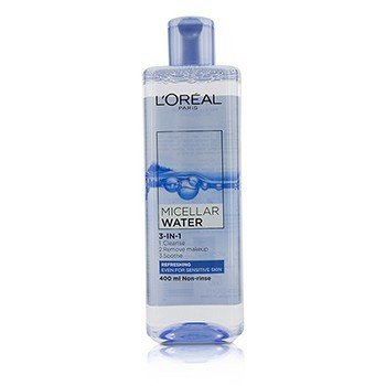 L'Oreal 3-In-1 Agua Micelar (Refreshing) - Incluso Para Piel Sensible  400ml/13.3oz