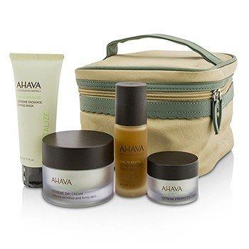 Ahava Estuche Firming Beauty: Mascarilla Lifting 75ml + Crema de Día 50ml + Tratamiento de Noche 30ml + Crema de Ojos 15ml+1 Bolsa  4pcs+1bag