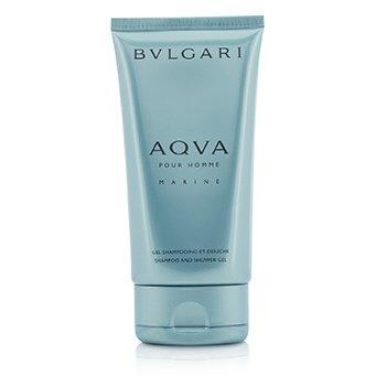 בולגרי Aqva Pour Homme Marine Shampoo & Shower Gel (Unboxed)  150ml/5oz