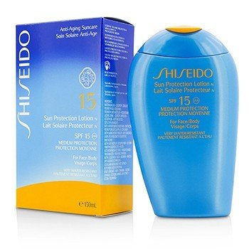 Shiseido Sun Protection Lotion N SPF 15 (For Face & Body)  150ml/5oz