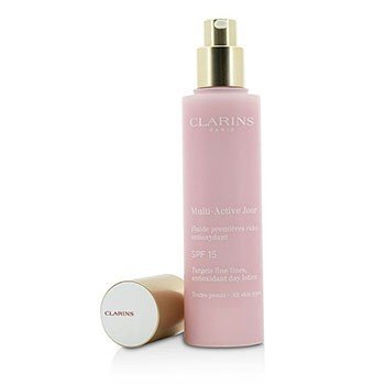 Clarins Multi-Active Day Targets Fine Lines Antioxidant Day Lotion - For All Skin Types (Unboxed)  50ml/1.7oz