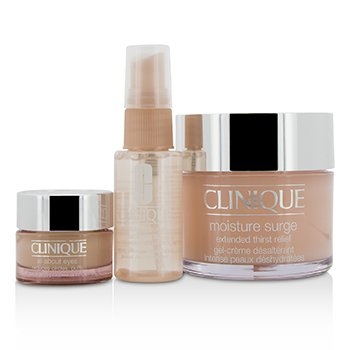 Clinique Set Moisture Surge: Moisture Surge 125ml + Moisture Surge Spray Facial Aliviante de Sed de Piel 30ml + Todo Acerca de Ojos 15ml  3pcs
