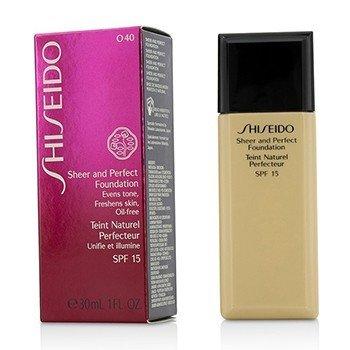 Shiseido Sheer & Perfect Base SPF 15 - # O40 Natural Fair Ochre  30ml/1oz