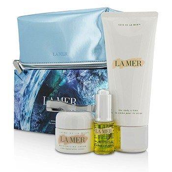 海藍之謎  Sensorial Sensations Set: The Renewal Oil 15ml + Creme De La Mer The Moisturizing Cream 30ml + The Body Creme 200ml +Bag  3pcs+1bag