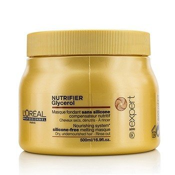 歐萊雅 Professionnel Expert Serie - Nutrifier Glycerol  Silicone-Free Melting Masque - Rinse Out (For Dry,  500ml/16.9oz