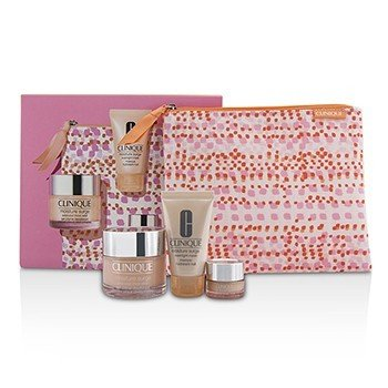 Clinique Set Moisture Favourites: Moisture Surge 50ml + Mascarilla Para La Noche 30ml + Todo Acerca de Ojos 5ml + Bolsa  3pcs+1bag