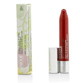 クリニーク Chubby Plump & Shine Liquid Lip Plumping Gloss - #02 Super Scarlet  3.9g/0.13oz