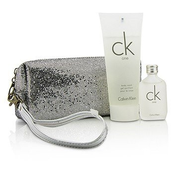 Calvin Klein CK One Coffret: Eau De Toilette 15ml/0.5oz + Jabón Corporal 100ml/3.4oz + Bolsa  2pcs+bag