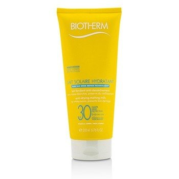 Biotherm Mleczko do opalania Lait Solaire Hydratant Anti-Drying Melting Milk SPF 30 - For Face & Body  200ml/6.76oz