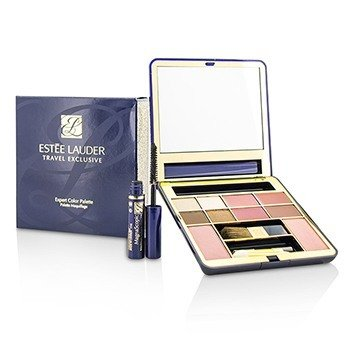 Estee Lauder Travel Exclusive Expert Color Palette (2x Blush, 4x EyeShadow, 4x Lipstick, 1x Mini Mascara, 3X Applicator)