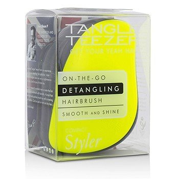 タングルティーザー Compact Styler On-The-Go Detangling Hair Brush - # Lemon Zest  1pc