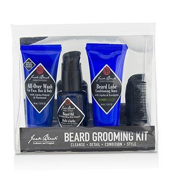 杰克布莱克  Beard Grooming Kit: All-Over Wash 44ml, Beard Oil 30ml, Beard Lube Conditioning Shave 44ml, Beard Comb  4pcs