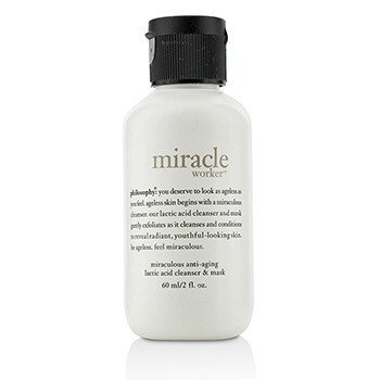 Philosophy Miracle Worker Miraculous Anti-Aging Lactic Acid Cleanser & Mask (Travel Size)  60ml/2oz