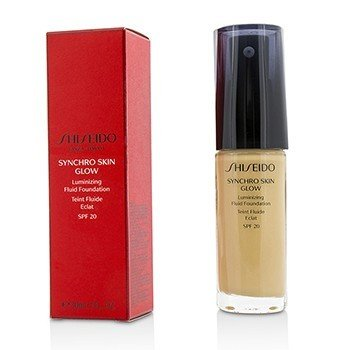 Shiseido Płynny podkład do twarzy Synchro Skin Glow Luminizing Fluid Foundation SPF 20 - # Golden 3  30ml/1oz
